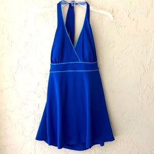Islander royal blue swim dress 12 like new